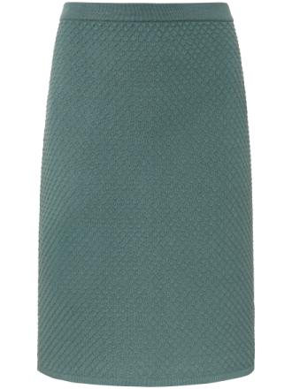 Stickad kjol från Peter Hahn grön