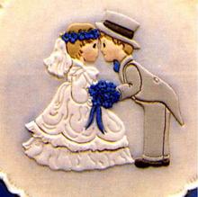 Bride & groom , reverse / Omvendt Brud & Gom , udstikker