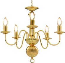 vidaXL Takkrona guld 5 x E14-glödlampor