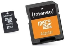 Mikro-SD-hukommelseskort med adapter INTENSO 3413480 32 GB Klasse 10