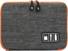 Väska för förvaring av kablar och elektroniktillbehör - grå
