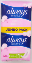 Always Ultra Sensitive Normal Sanitary Pad Jumbo Pack - 34 Pieces