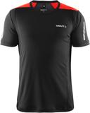 Craft Devotion SS Shirt M BLACK / RED - Utgående F