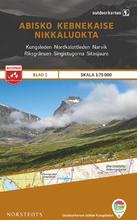 Norstedts Ark 1 Abisko-Kebnekaise-Nikkaluokta 1:75 000