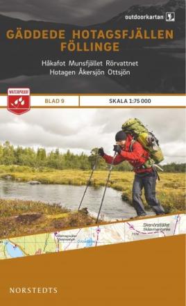 Norstedts Ark 9 Gäddede-Hotagsfjällen-Föllinge 1:75 000