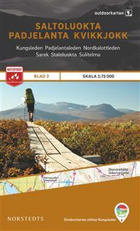 Norstedts Ark 3 Saltoluokta-Padjelanta-Kvikkjokk 1:75 000