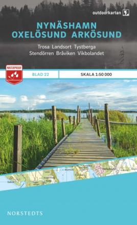 Norstedts Ark 22 Nynäshamn-Oxelösund-Arkösund 1:50 000