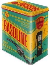 Plåtburk L Retro / Gasoline