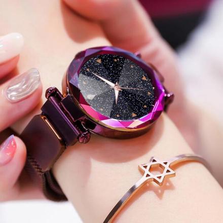 Women Watches Luxury Starry Sky Stainless Steel Mesh Magnetic Strap Ladies Watch Quartz Wrist Watch Relojes Zegarek Damski