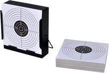 Vidaxl kulfång med hållare för måltavla 14 cm + 100 st måltavlor