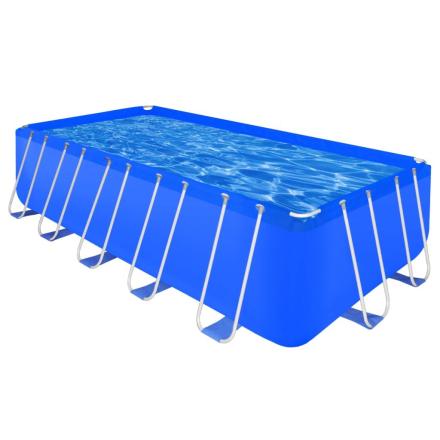 vidaXL 90532 Firkantet badebassin med stålramme 540 x 270 x 122 cm