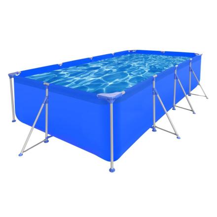 vidaXL 90530 Firkantet badebassin med stålramme 394 x 207 x 80cm