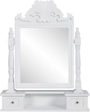 Vidaxl bordsspegel med justerbar rektangulär spegel mdf