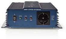 Nedis Strömväxelriktare, ren sinusvåg | 24 V DC - 230 V AC | 1000 W | 1x Schuko-uttag