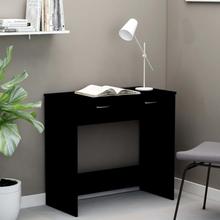 vidaXL Skrivebord svart 80x40x75 cm sponplate