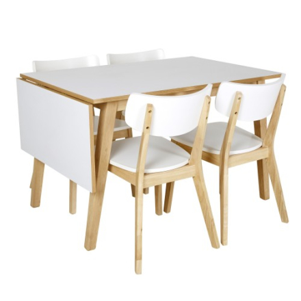 Martinsen Ruby Bord + 4 stoler
