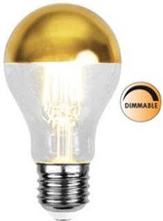 Globen Lighting Lyspære LED 352-95 Toppforspeilet Gull Dimbar E27
