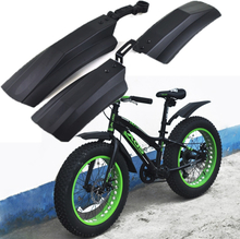 Snow Bicycle mudguard Fat bike Fender 2pcs Front Rear Mud Guard for 20 inch 26inch Fatbike MTB Bikes Cycling Bicycle Fenders