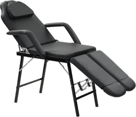 vidaXL Bärbar behandlingsstol konstläder 185x78x76 cm svart