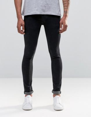 Religion Skinny Fit Hero Jeans in Dot Wash - Blue