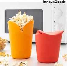 Sammenfoldelige silikone Popcorn Poppers Popbox InnovaGoods (Pakke med 2)