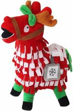 Fortnite Supply Lama Gosedjur i Jultema utklädd till Rudolf