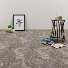 vidaXL Självhäftande PVC-golvplankor 5,11 m² svart marmor