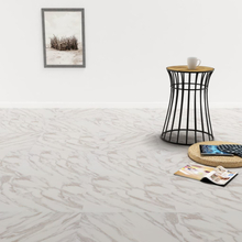 vidaXL Självhäftande PVC-golvplankor 5,11 m² vit marmor