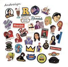 35Pcs/Set Riverdale Graffiti Sticker TV Show Fans For Luggage Laptop Notebook Car Motorcycle Toy Phone PVC Waterproof Sticker