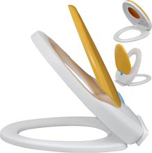 vidaXL Valkoinen & Keltainen Soft Close WC-istuin Aikuisille/Lapsille