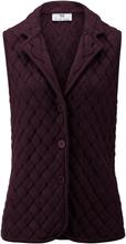 Stickad väst i 100% ren ny ull, Biella Yarn från Peter Hahn röd