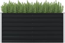 vidaXL Upphöjd odlingslåda antracit 160x80x77 cm galvaniserat stål