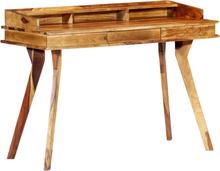 vidaXL Skrivbord 115x50x85 cm massivt sheshamträ