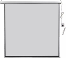vidaXL Elektrisk projektorskjerm med fjernkontroll 160x160 cm 1:1