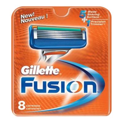 Gillette Fusion Partaterät 8 kpl