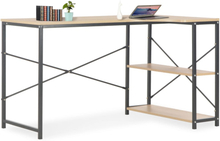 vidaXL Databord svart og eik 120x72x70 cm