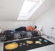 Vinyl tapijt zonnestelsel kinderen