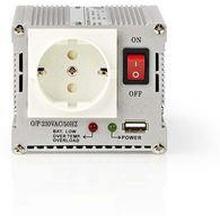 Nedis Strömväxelriktare, modifierad sinusvåg   24 V DC - 230 V AC   300 W   1x Schuko-uttag/1 USB-port