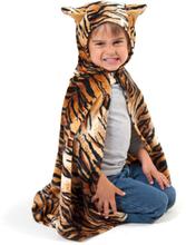 Tigerdräkt, cape med huva 3-8 år
