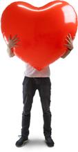 Valtava puhallettava sydän