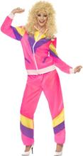 80'er Træningsdragt Kostume Dame Small