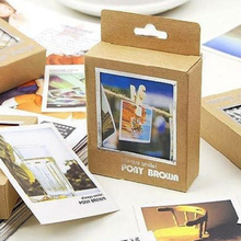 40 Pcs/pack New Cassette Lomo Mini Cards Retro landscape Style Cartoon DIY Cards Blank Postcard Greeting Card for Friends