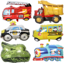 Car fire truck Balloons Party Baloons Party Decorations Foil Ballon Birthday Party Decor Kids cartoon hat