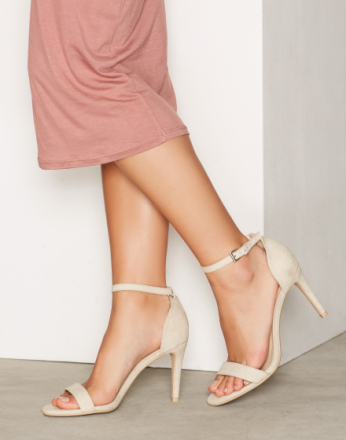 NLY Shoes Heel Sandal Beige