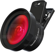 Camera Lens Pro Macro Lens Wide Angle Lens Kit with LED Light Clip-On Cell Phone Camera Lenses for iPhone Android