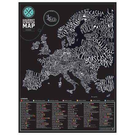 Gourmet Scratch Map Europe