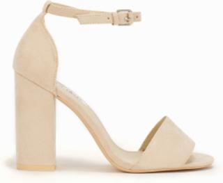 NLY Shoes Block Heel Sandal Beige