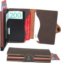 Plånbok med korthållare Safecard Konstläder mörkbrun 2