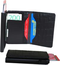 Plånbok med korthållare Safecard Kroko Svart 2
