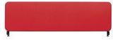 Bordsskärm 45x100 cm röd